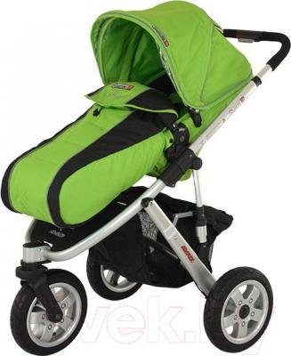 Детская универсальная коляска Adamex Quatro 3 (2 в 1) (зеленый) - общий вид