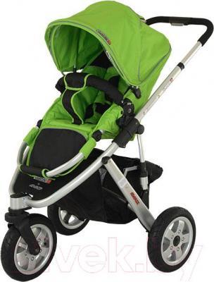 Детская универсальная коляска Adamex Quatro 3 (2 в 1) (красный) - прогулочная