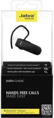 Односторонняя гарнитура Jabra Classic (черный) - в упаковке