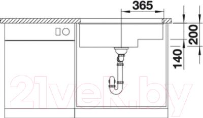 Мойка кухонная Blanco Subline 700-U Level (518398)