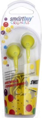 Наушники SmartBuy SBE-6300 (желтый) - в упаковке