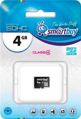 Карта памяти SmartBuy microSDHC (Class 4) 4 Gb (SB4GBSDCL4-00) - общий вид