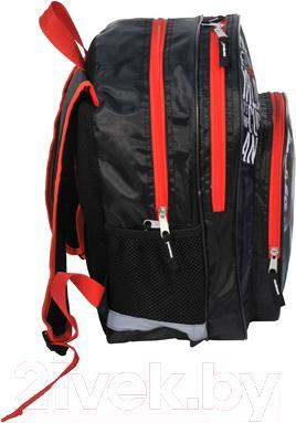 Школьный рюкзак Paso 15-163F - вид сбоку