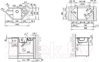 Мойка кухонная Teka Astral 70 E-TG  (карбон)
