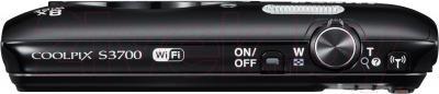 Компактный фотоаппарат Nikon Coolpix S3700 (черный) - вид сверху