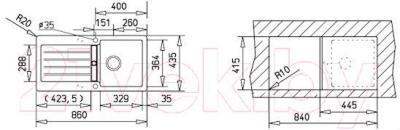 Мойка кухонная Teka Kea 45 B-TG / 40143345 (карбон)