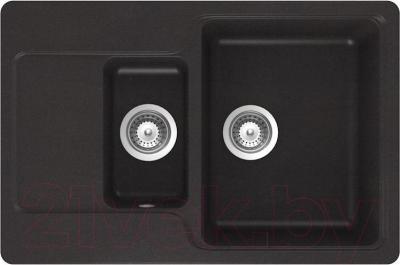 Мойка кухонная Teka Luna 60 B-TG / 40145305 (карбон) - общий вид