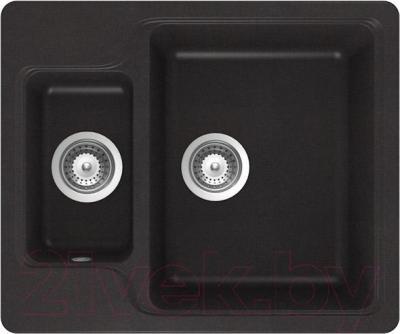 Мойка кухонная Teka Luna 60 S-TG / 40145313 (карбон) - общий вид