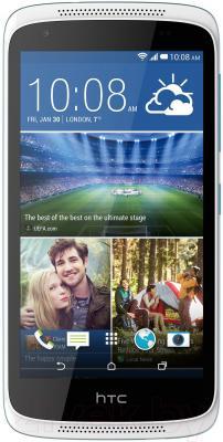 Смартфон HTC Desire 526G Dual (бело-голубой) - общий вид