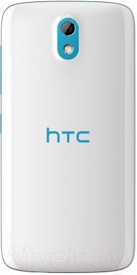 Смартфон HTC Desire 526G Dual (бело-голубой) - вид сзади