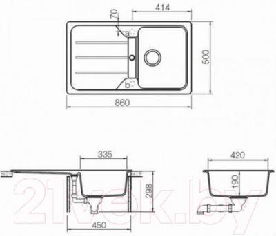 Мойка кухонная Teka Simpla 45 B-TG (оникс)