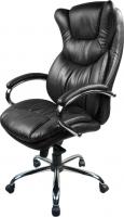 Кресло офисное Baldu visata Eagle (черный-хром, кожа) -