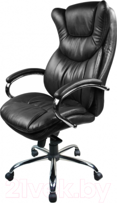 Кресло офисное Baldu visata Eagle (черный-хром, экокожа)