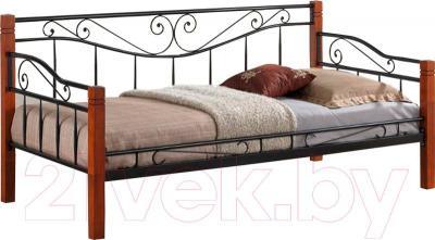 Односпальная кровать Signal Kenia (античная черешня)