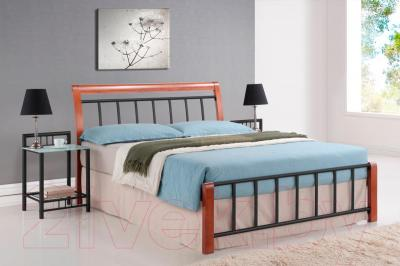 Двуспальная кровать Signal Praga (160x200, античная черешня)