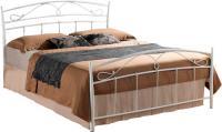 Двуспальная кровать Signal Siena (160x200, белый) -
