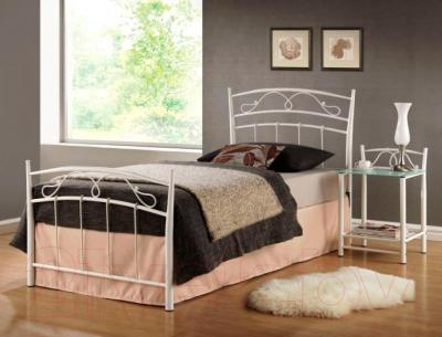 Односпальная кровать Signal Siena (90x200, белый)