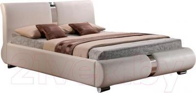 Двуспальная кровать Signal Tokyo (160x200, белый)