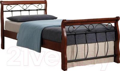 Двуспальная кровать Signal Venecja Bis 2OS.160x200 (античная черешня)