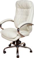 Кресло офисное Baldu visata Malibu (слоновая кость-хром, кожа) -