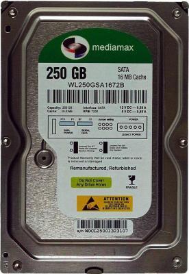 Жесткий диск Mediamax WL250GSA - общий вид