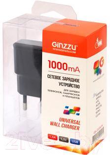 Сетевой адаптер питания Ginzzu GA-3105UB (черный) - в упаковке