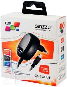 Сетевое зарядное устройство Ginzzu GA-3108UB - в упаковке