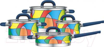 Набор кухонной посуды Yamateru Takara S YTASET8S - общий вид набора