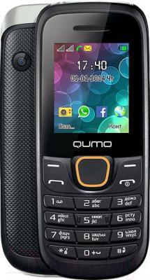Мобильный телефон Qumo Push 184 (черный) - с задней панелью