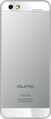 Мобильный телефон Qumo Push 245 (серебристый) - вид сзади