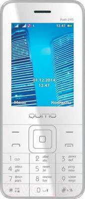 Мобильный телефон Qumo Push 245 (серебристый) - общий вид