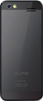 Мобильный телефон Qumo Push 245 (черный) - вид сзади