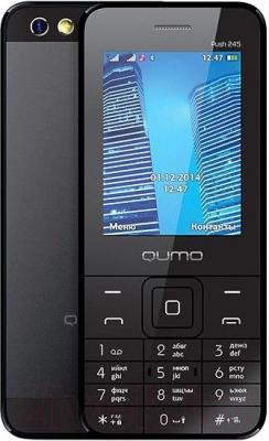 Мобильный телефон Qumo Push 245 (черный) - общий вид