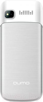Мобильный телефон Qumo Push 280 Dual (серебристый) - вид сзади