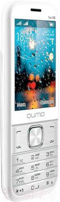 Мобильный телефон Qumo Push 280 Dual (серебристый) - вполоборота