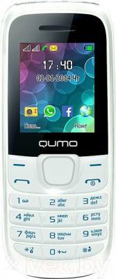 Мобильный телефон Qumo Push 184 (белый) - общий вид