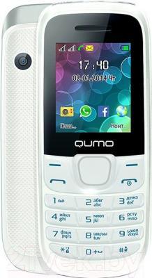Мобильный телефон Qumo Push 184 (белый) - с задней панелью