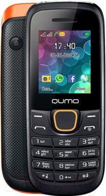 Мобильный телефон Qumo Push 184 (оранжевый) - с задней панелью