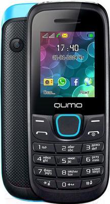 Мобильный телефон Qumo Push 184 (синий) - с задней панелью