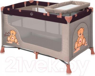 Кровать-манеж Lorelli Nanny 2 (Beige Bear) - общий вид