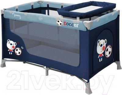 Кровать-манеж Lorelli Nanny 2 (Blue Soccer) - общий вид