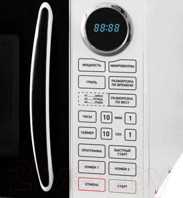 Микроволновая печь BBK 23MWG-930S/BW - элементы управления