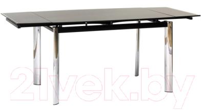 Обеденный стол Signal GD019 (черный, 70x100)