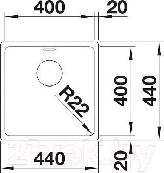 Мойка кухонная Blanco Andano 400-IF (518312) - схема