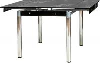Обеденный стол Signal GD082 (черный-хром) -