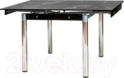 Обеденный стол Signal GD082 (черный-хром)