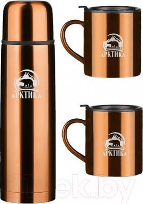 Термос для напитков Арктика 102-1000S/KH (кофейный) - общий вид
