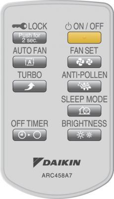 Очиститель воздуха Daikin MC70L - пульт ДУ