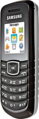 Мобильный телефон Samsung E1080 Black (GT-E1080 ZKWSER) - вид сбоку