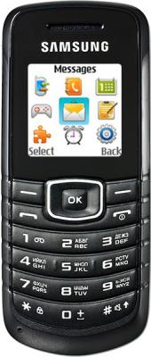 Мобильный телефон Samsung E1080 Black (GT-E1080 ZKWSER) - вид спереди